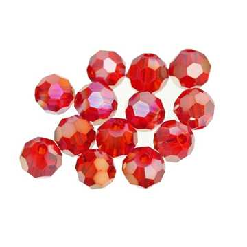 Bild på Darts Glass Beads Red 6mm (9-pack)