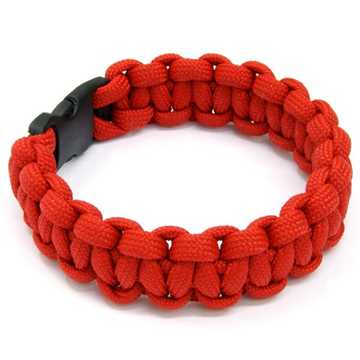 Bild på Paracord Armband Röd (22,9cm)