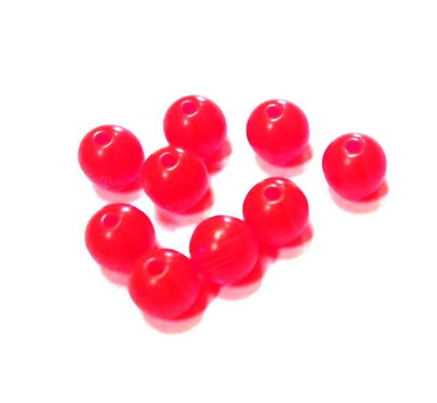 Bild på Darts Plastic Beads Fluo Red 6mm (9-pack)