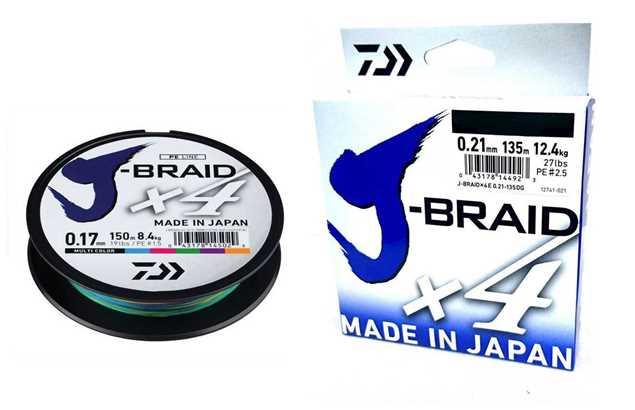 Bild på Daiwa J-Braid X4 Multicolor 300m