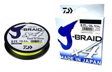 Bild på Daiwa J-Braid X4 Yellow 135m