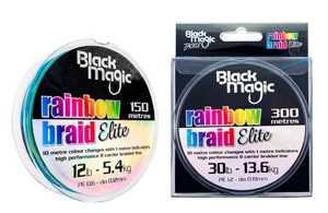 Bild på Black Magic Rainbow Braid Elite 300m 0,17mm / 9,0kg