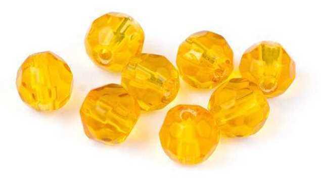 Bild på Darts Glass Beads Amber 6mm (9-pack)
