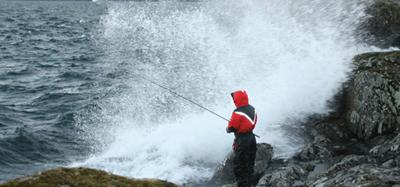 Landfiske vid Vättern   EL-GE Oskar