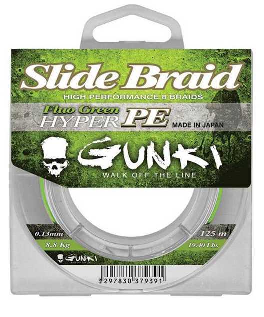 Bild på Gunki Slide Braid Fluo Green Hyper PE 125m