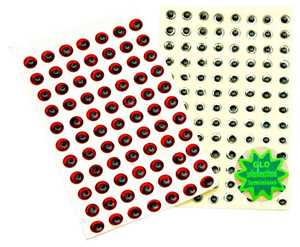 Bild på Behr Angelsport 3D-Fisheyes 5mm (154 pack) Glow (Självlysande)