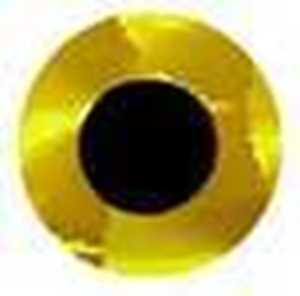 Bild på Fish Eyes Flat Holo 6mm (120 pack) Gold