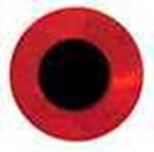 Bild på Fish Eyes Flat Holo 8mm (72 pack) Red