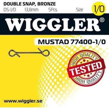Bild på Wiggler Dubbel Snap 1/0 (5 pack)
