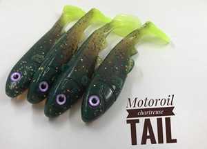 Bild på Boni Baits Happy 16 Motoroil Chartreuse Tail
