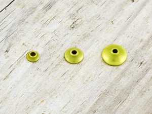 Bild på FITS Tungsten Turbo Cones (10-pack) Yellow Metallic - Micro
