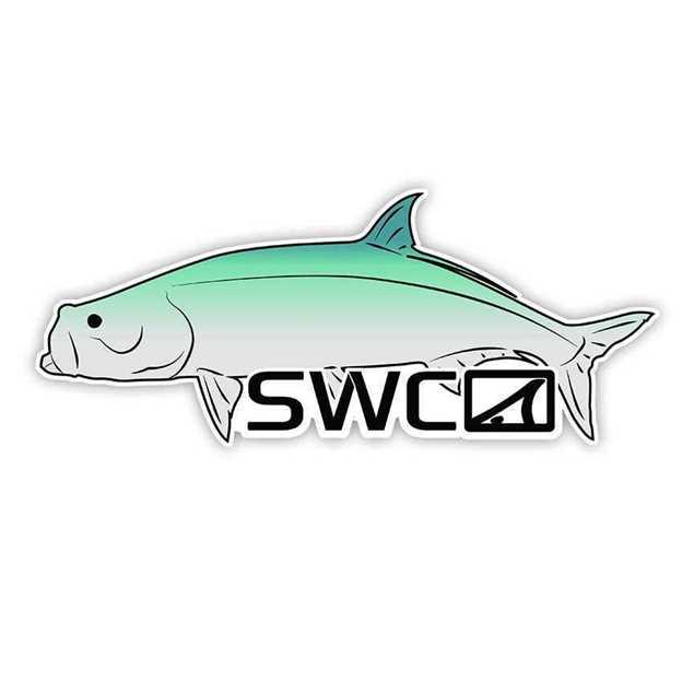 Bild på SWC Mirror Tarpon Decal Holo Sticker